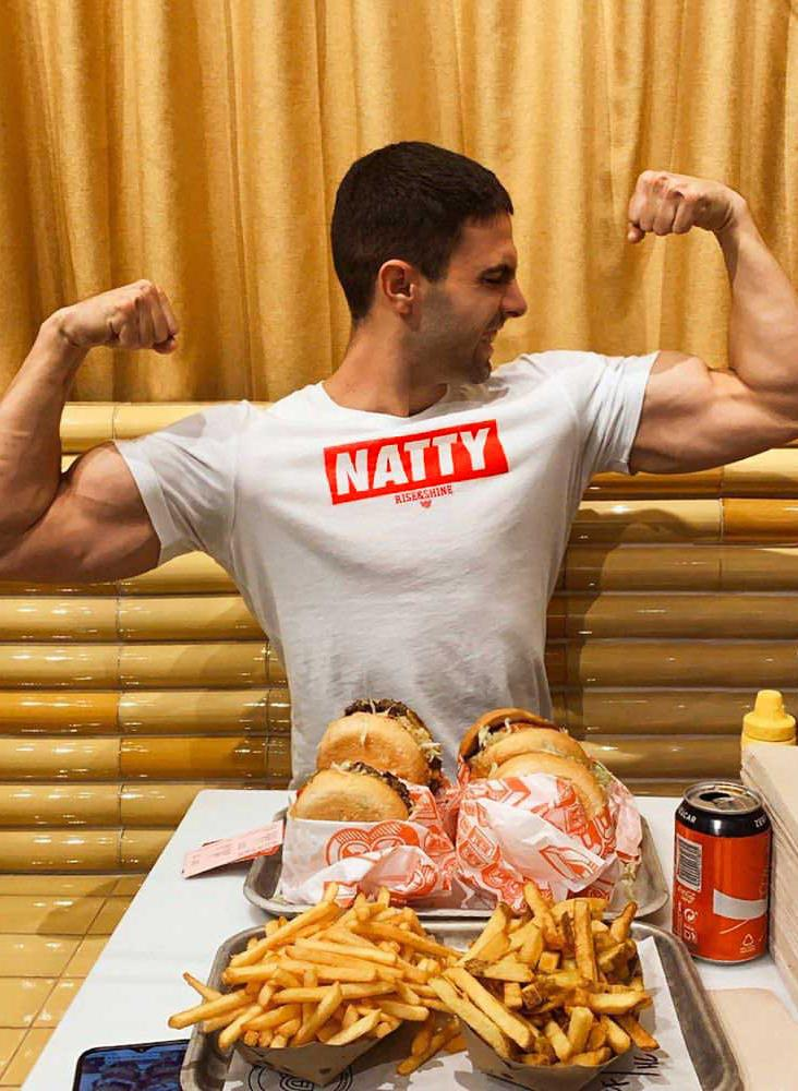 """NATTY"" Camiseta Camiseta de Hombre Rise&Shine Mindbody Industries S"