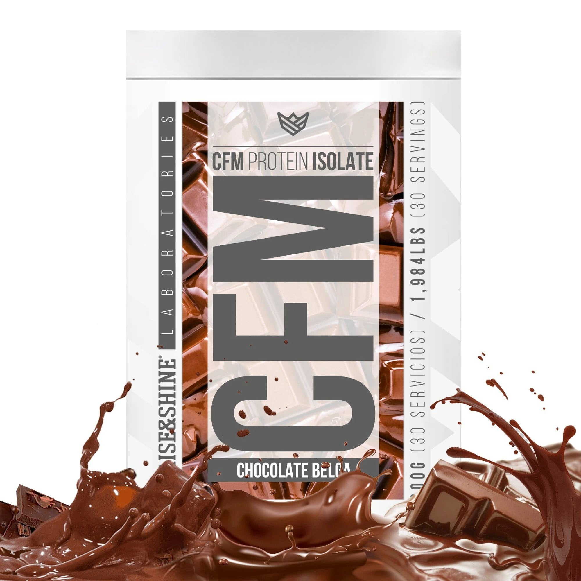 [PRE COMPRA] 900g CFM Whey Protein Isolate (Chocolate Belga) Rise&Shine Mindbody Industries 900G Choco Avellana