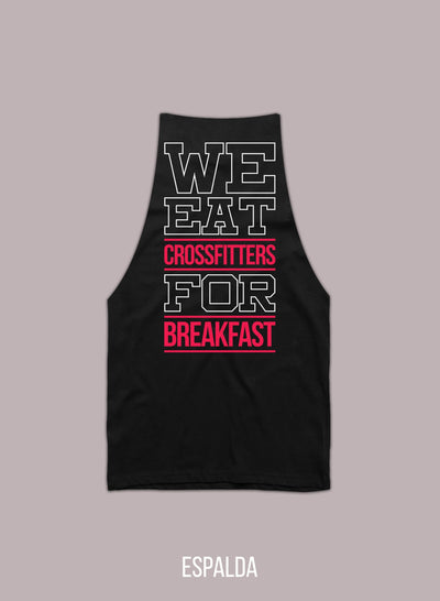 """We Eat.."" Camiseta de Tirantes Cortada a Mano Tirantes Hombre Rise&Shine Mindbody Industries"