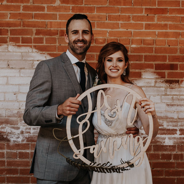Circle Laser Cut Monogram Couple Sign