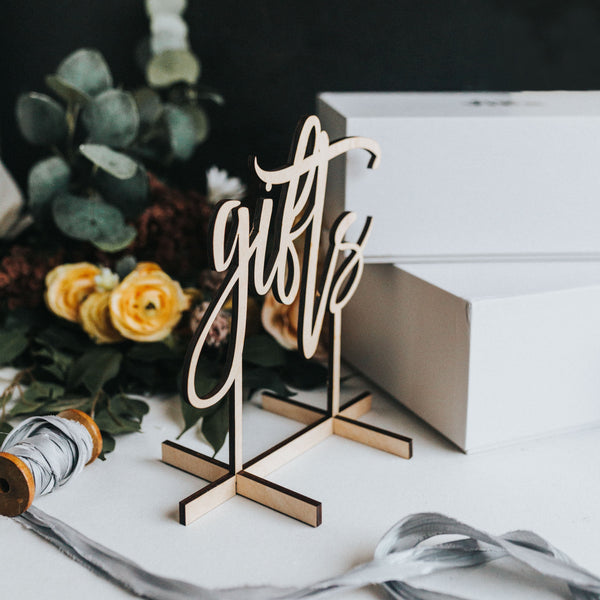 Free Standing Table Top Gift Signs
