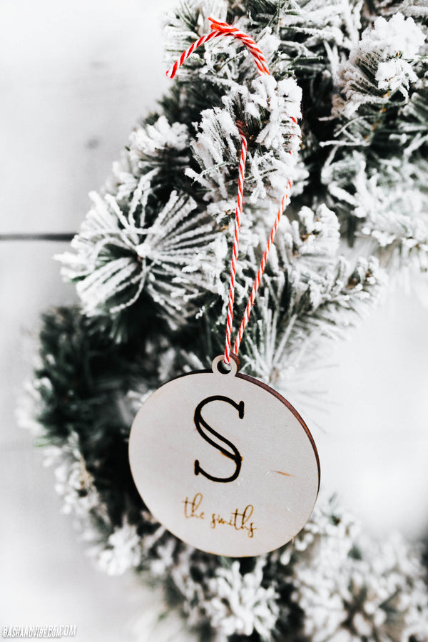 Single Initial Personalized Family Ornament