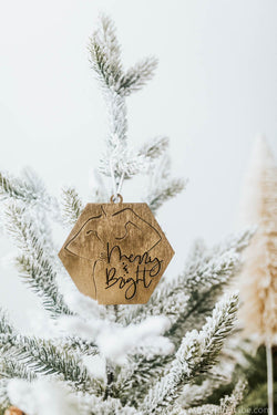 Feminine Silhouette Merry and Bright Christmas Ornament