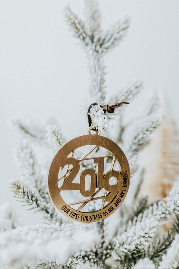 Personalized 2019 Couple Christmas Ornament