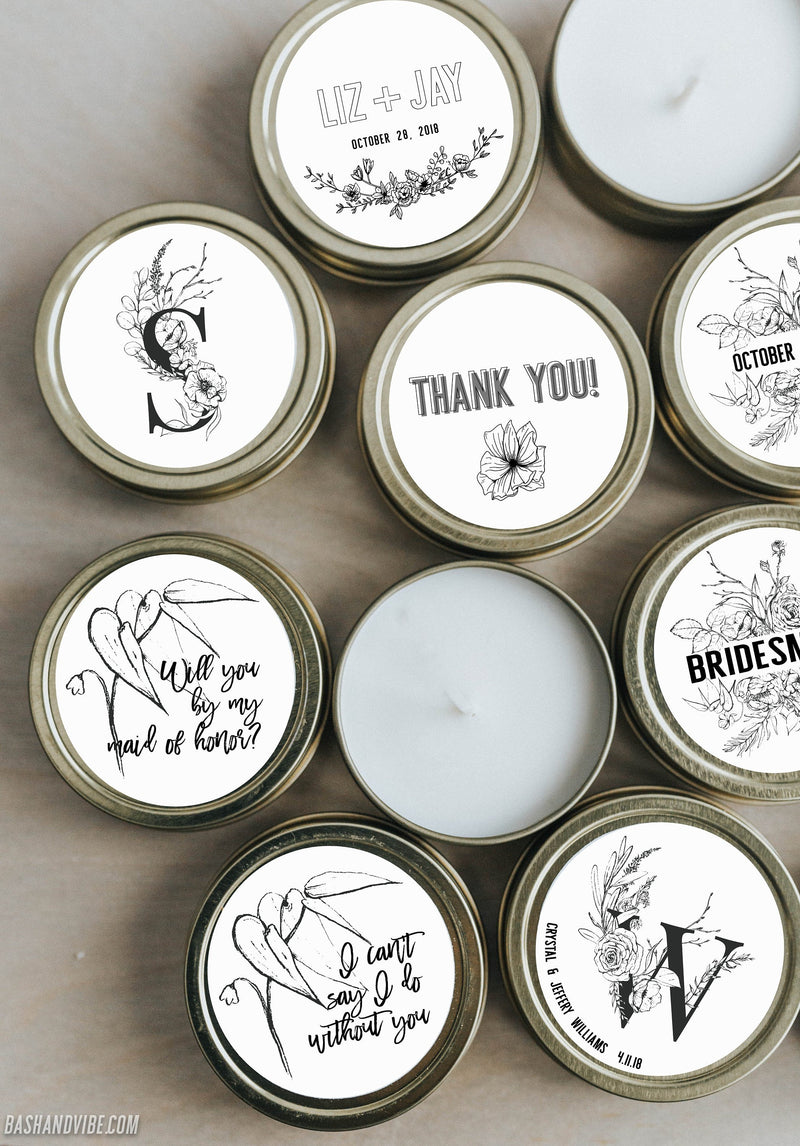 Bridesmaid Candle Gift