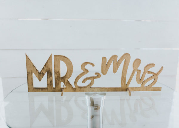 Mr. and Mrs. Table Top Sign