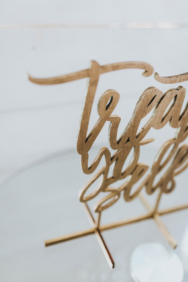 Treat Yo Self Freestanding Laser Cut Sign