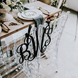 Monogram Chair Sign