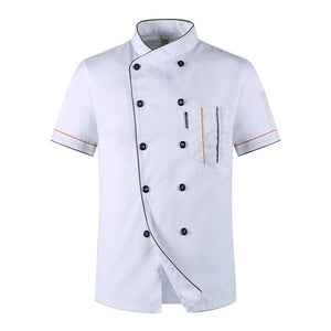 Wholesale Restaurant Kitchen Chef Uniform Shirt Breathable Double Breasted Chef Jacket+cap+apron works clothes for men Unisex