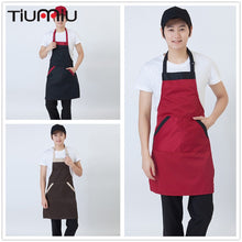 Load image into Gallery viewer, Women Men Chef Aprons 3 Colors High Quality Wholesale Kitchen Hotel Coffee Shop Bakery Chef Waiter Cleaning Cook Workwear Aprons