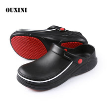 Load image into Gallery viewer, EVA High Quality Non-slip Waterproof Oil-proof Kitchen Work Shoes for Chef Master Cook Hotel Restaurant Slippers Flat Sandals