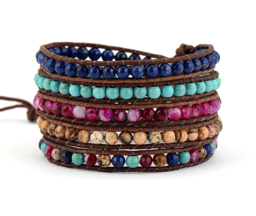 BOHO - CHIC Mixed Stone Layered Bracelet
