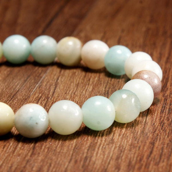MoonStone Beaded Bracelet - Amazonite beads