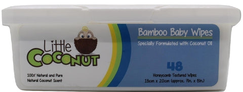 Bamboo Baby Wipes Formulated with Coconut Oil