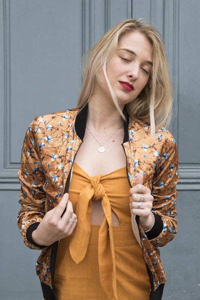 Absolème bomber Billie velours orange