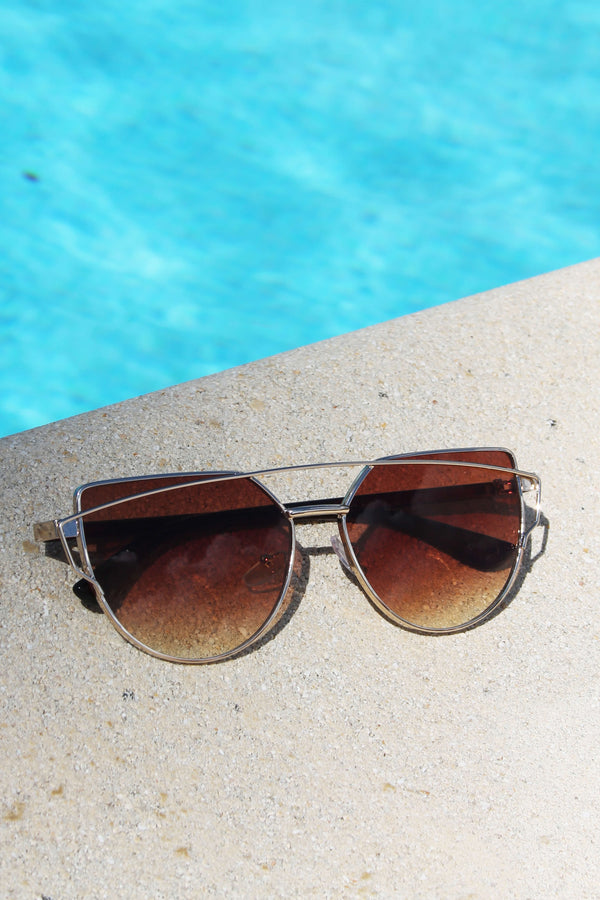 Lunettes de Soleil Sunshine of Your Love - Marron