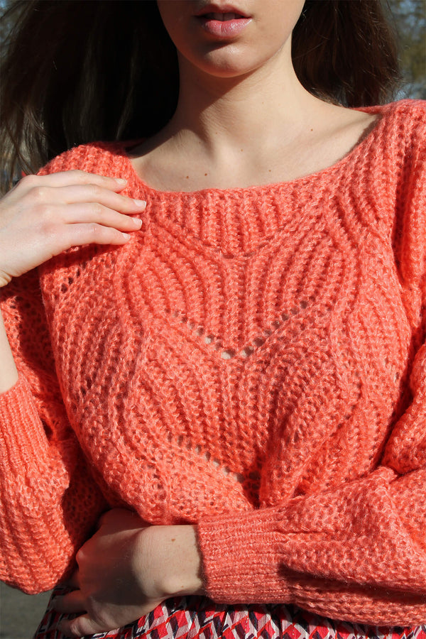 Pull Doux Corail