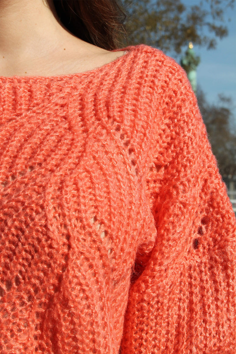 Absolème Pull Maille Orange