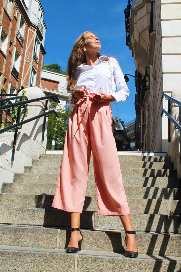 Absolème eshop pantalon large rose pastel
