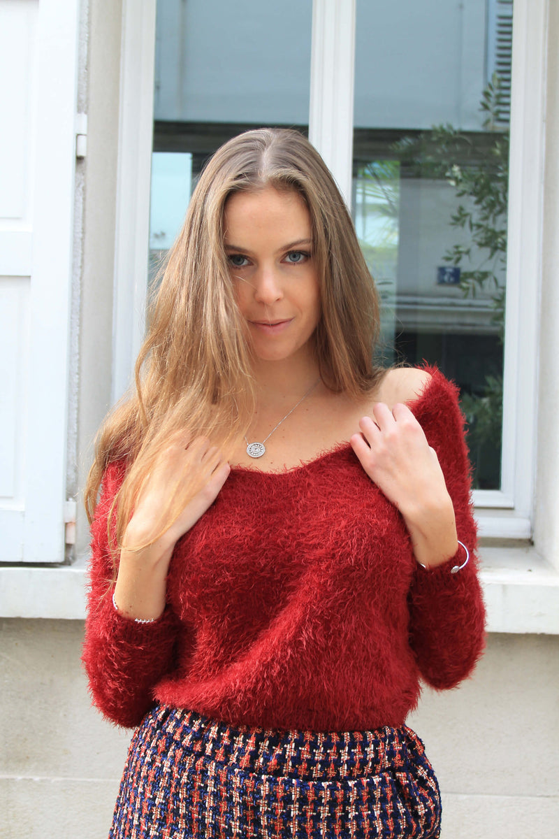 Pull Crop Rouge