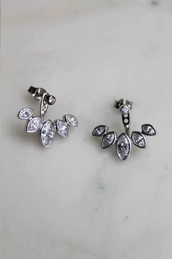 Boucles d'oreilles up and down Argent 925 Zirconiums