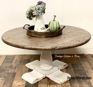 Beautiful Table Stamped with IOD Barnwood Plank Stamp Set