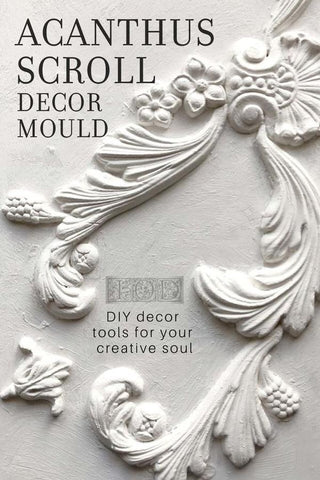 NEW Iron Orchid Designs (IOD) Acanthus Scroll Mould
