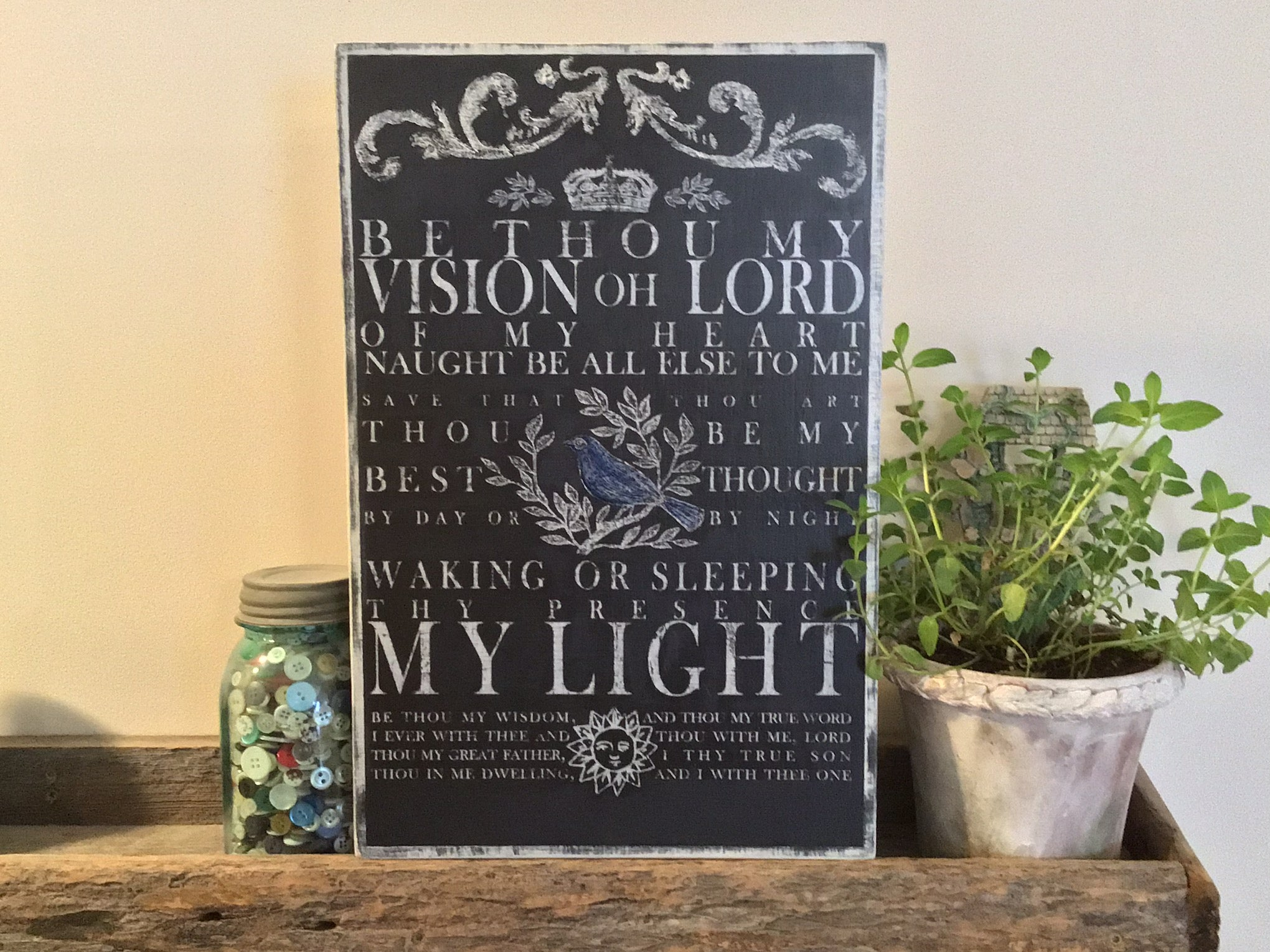Be Thou My Vision Wood Sign