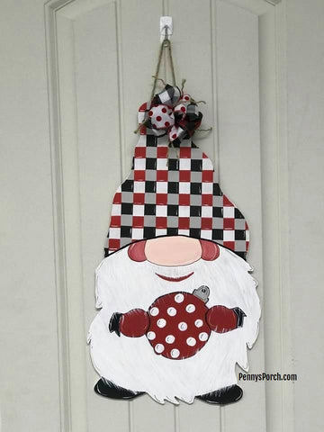 Christmas Gnome Door Hanger / Wall Decor