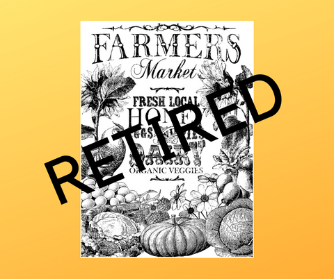 IOD Farmer's Market Paintable Transfer