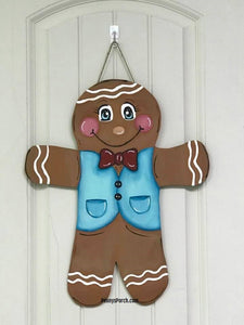 Gingerbread Boy Door Hanger / Wall Hanger