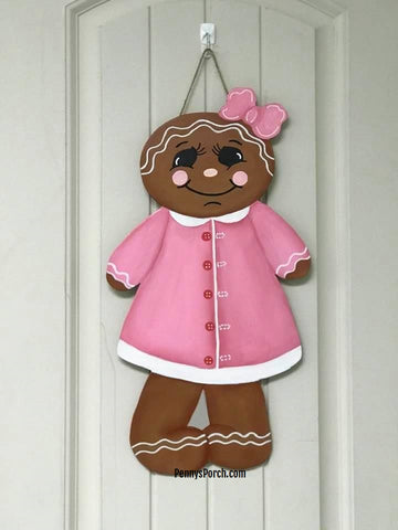 Gingerbread Girl Door Hanger / Wall Decor