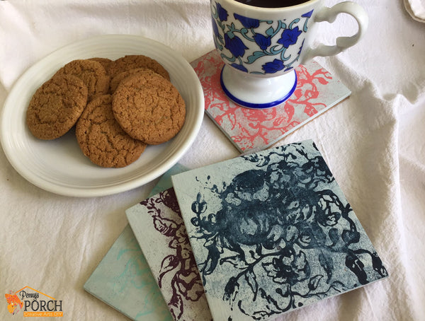 Iron Orchid Designs (IOD) Rose Toile Stamp Set Coaster Making Kit