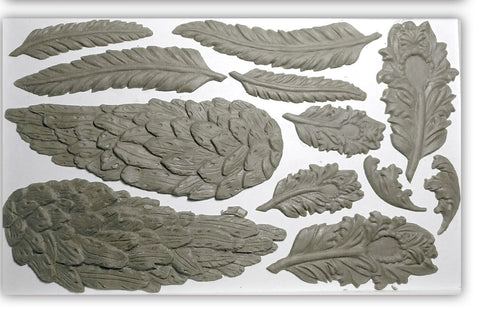IOD Wings and Feathers Decor Mould