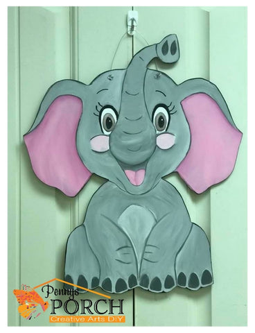 DIY Elephant Door Hanger Blank ~ Unpainted