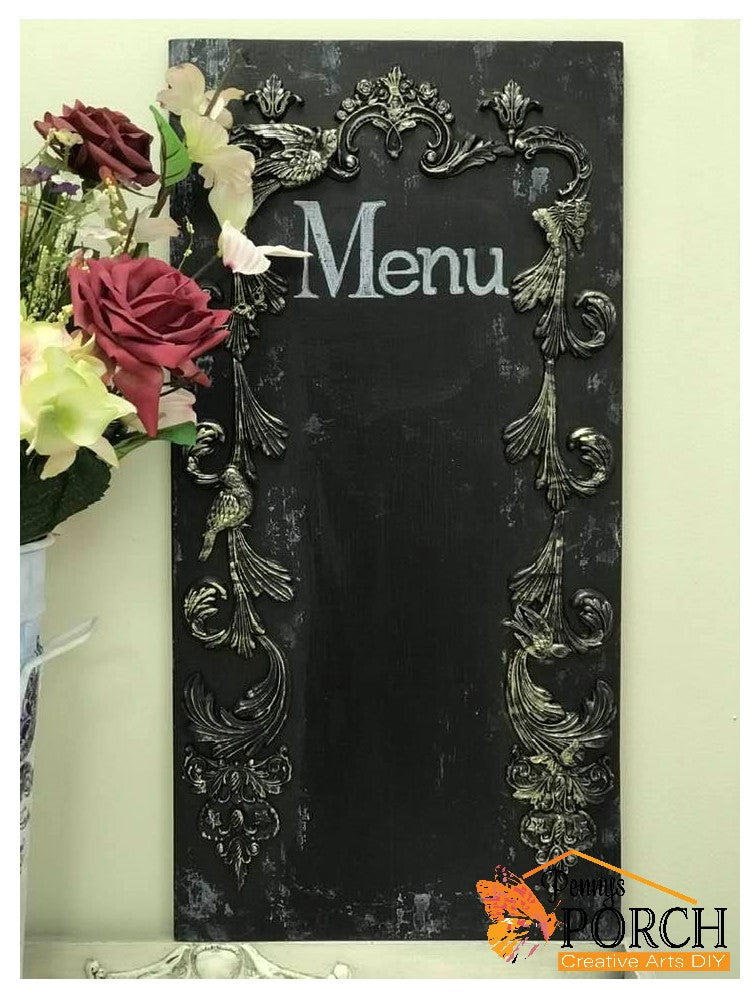 DIY Chalkboard with Castings from IOD Moulds Workshop