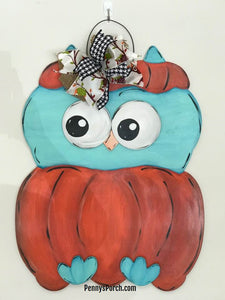 Pumpkin Owl Door Hanger Making Workshop