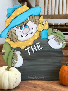 Personalized Scarecrow Porch Sitter / Door Hanger