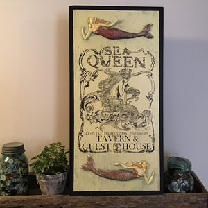 Sea Queen Wood Sign