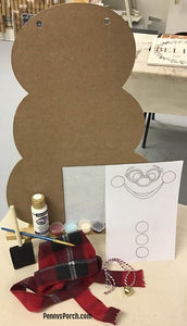 DIY Snowman Door Hanger Kit