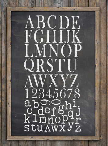 IOD Typesetting Decor Stamp