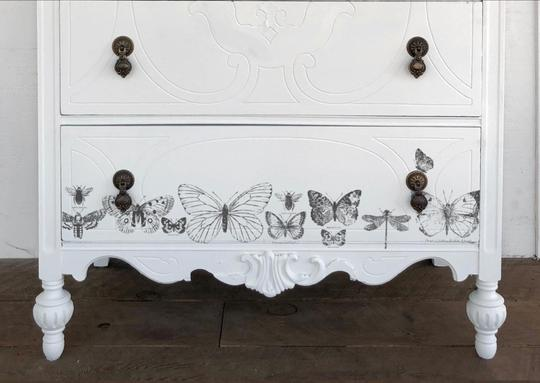 NEW IOD Butterflies Decor Stamp