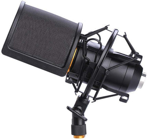 Microphone Shock Mount with Pop Filter