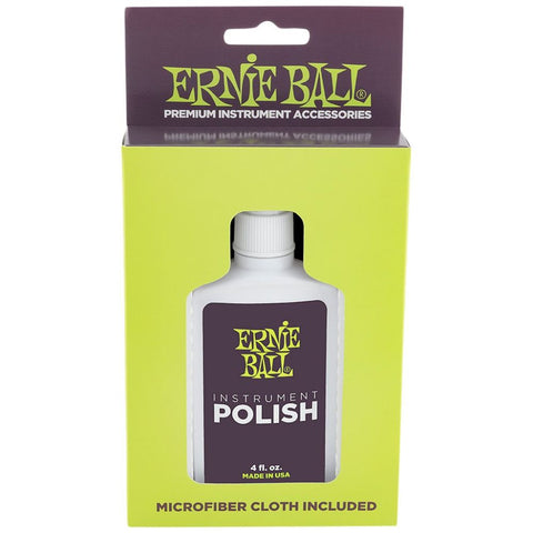 Ernie Ball Instrument Polish with Microfiber Cloth