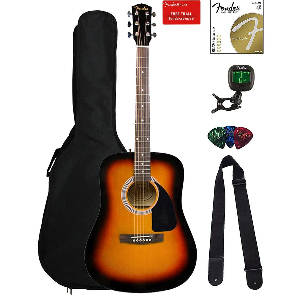 Fender FA-115 Acoustic Guitar Bundle
