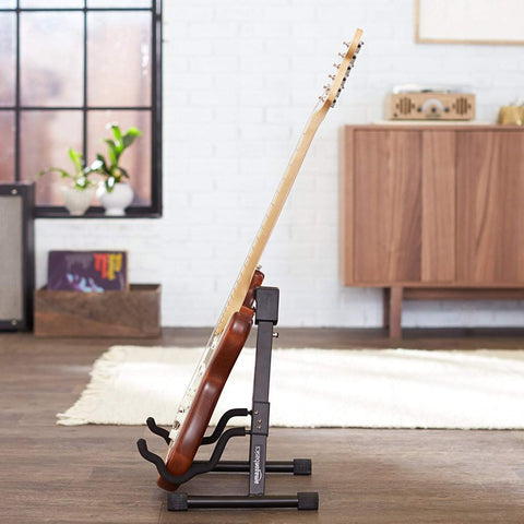 Image of Acoustic and Electric Guitar Folding A-Frame Stand