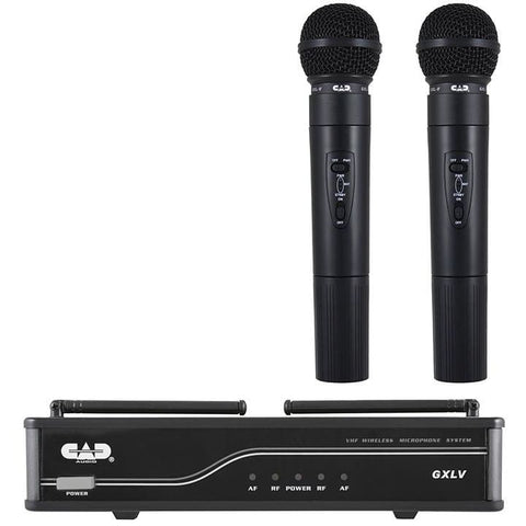 CAD 2 Handheld Wireless Mics UHF L Band - Microphones