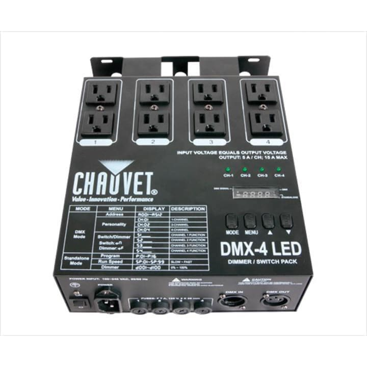 Chauvet 4 Channel Dimmer Relay Pack - DJ & Club Gear