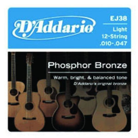 Daddario Set Acous Phos Brz Lite 12Str - Guitar & Bass