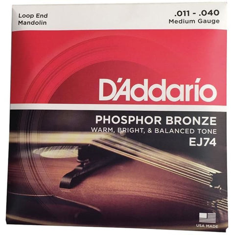 Daddario Set MandolinPhosBronzeMed(EJ74) - World & Folk